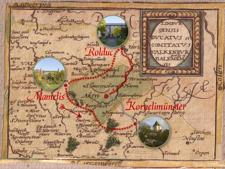 Abdijentocht Limburg kaart